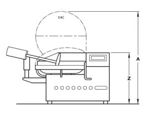 Размеры куттера Laska KU 130L